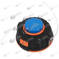 Cap cu fir motocoasa Automat - M10x1.25 - Buton albastru cu portocaliu P25