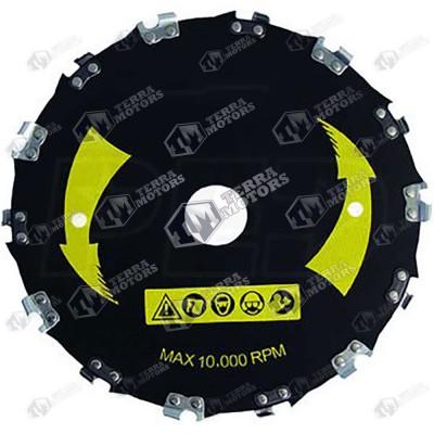 Disc motocoasa 230mm - 25.4mm - Cu dinti lant drujba