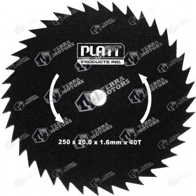 Disc motocoasa 40D - 250mm - 20mm - 1.6mm (Platt)