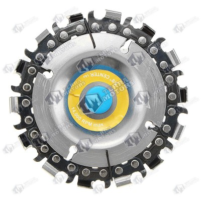 Disc pentru sculptat cu flex (polizor unghiular) Cu lant drujba - 100mm x 16mm